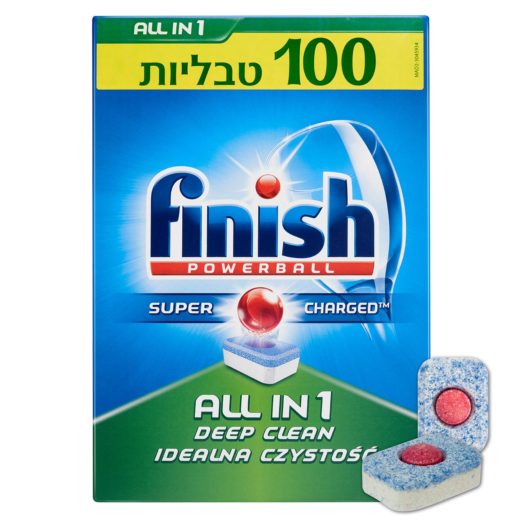 טבליות למדיח כלים Finish - מארז 100 יחידות